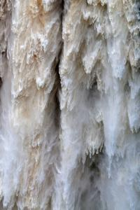 Detail of Water Falling from Kaieteur Falls, Guyana, South America by Mick Baines & Maren Reichelt