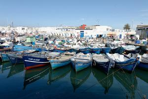 Small Inshore Fishing Boats in Tangier Fishing Harbour, Tangier, Morocco, North Africa, Africa by Mick Baines & Maren Reichelt