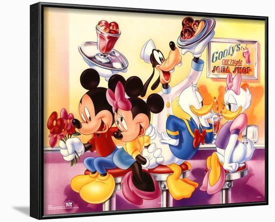 Mickey Mouse and Friends Goofy's Soda Shop--Framed Poster
