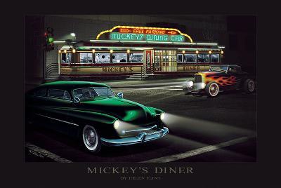 Mickey's Diner-Helen Flint-Art Print