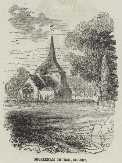 Mickleham Church, Surrey--Giclee Print