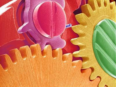 Multicolored Watch Gears
