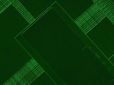 Micrograph of a Computer Microprocessor, LM X200, Epifluorecence, UV Illumination-Robert Markus-Photographic Print