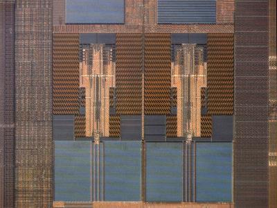 Micrograph of a Computer Microprocessor, LM X200-Robert Markus-Photographic Print