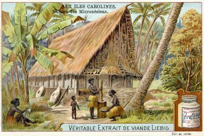 Micronesian Long House, Caroline Islands--Giclee Print