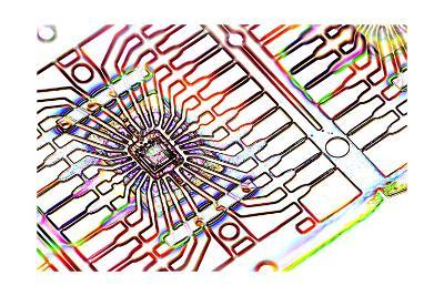 Microprocessor Chip, Artwork-PASIEKA-Giclee Print