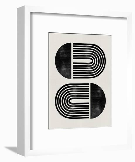 Mid Century Abstract Geometric III-Eline Isaksen-Framed Art Print