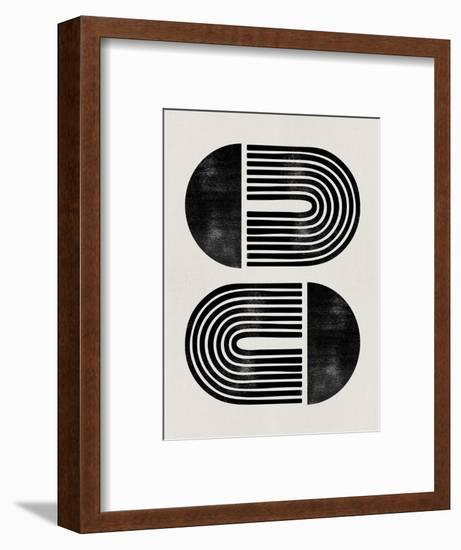 Mid Century Abstract Geometric III-Eline Isaksen-Framed Art Print