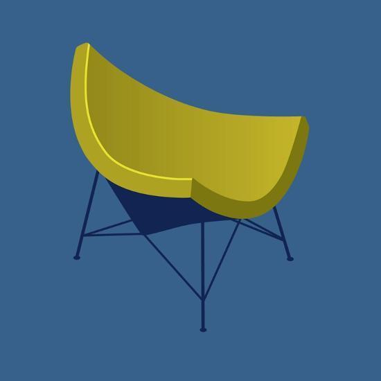 Mid Century Chair I--Premium Giclee Print