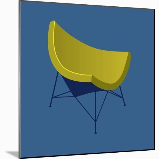 Mid Century Chair I--Mounted Art Print