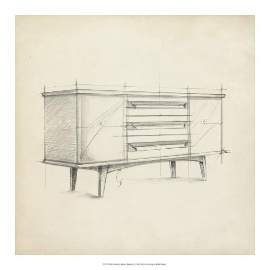 Mid Century Furniture Design V-Ethan Harper-Giclee Print