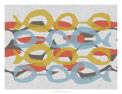 Mid Century Pattern I-Jennifer Goldberger-Art Print