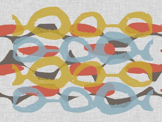 Mid Century Pattern I-Jennifer Goldberger-Premium Giclee Print