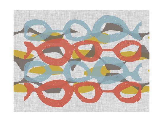 Mid Century Pattern II-Jennifer Goldberger-Art Print
