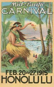 Mid-Pacific Carnival Poster, Hawaii