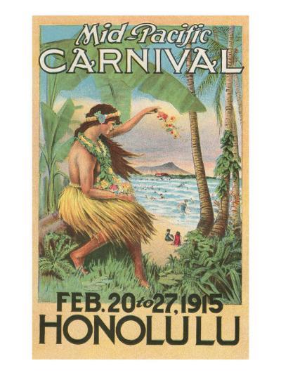 Mid-Pacific Carnival Poster, Hawaii--Art Print
