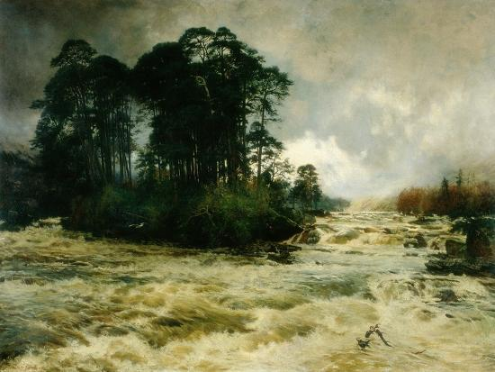 Mid the Wild Music of the Glen, 1888-Niels Moller Lund-Giclee Print