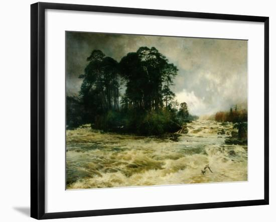 Mid the Wild Music of the Glen, 1888-Niels Moller Lund-Framed Giclee Print