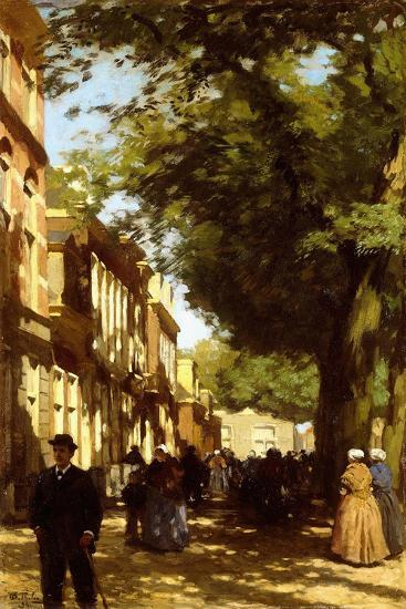 Midday on a Busy City Street, 1894-Willem Tholen-Giclee Print