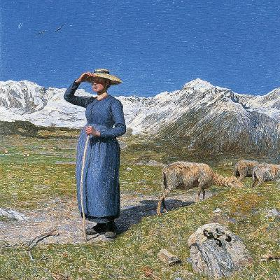 Midday on Alps on Windy Day, 1891--Giclee Print