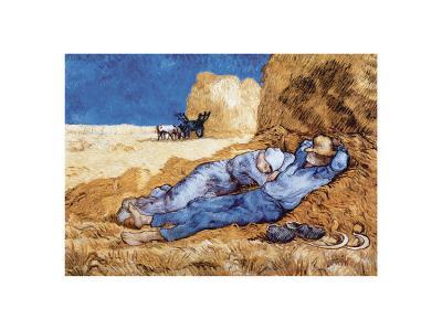 Midday Rest (after Millet), c.1890-Vincent van Gogh-Art Print