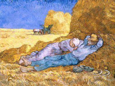 Midday Rest (after Millet), c.1890-Vincent van Gogh-Giclee Print