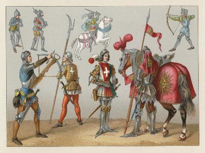 Middle Ages Costume-French School-Giclee Print