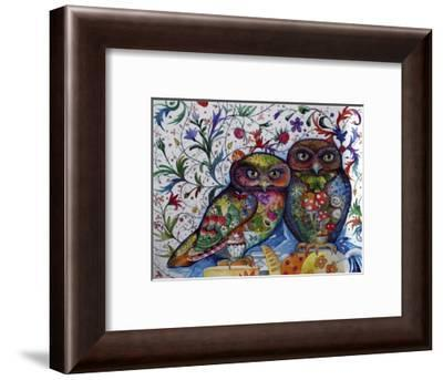 Middle Ages Owls-Oxana Zaika-Framed Giclee Print