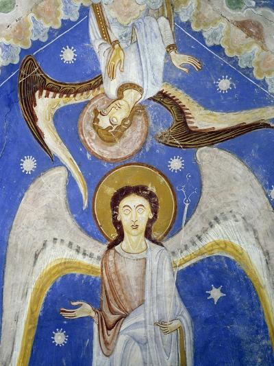 Middle Angels, Detail of Western and Eastern Arms of Frescoed Stone Cross--Giclee Print
