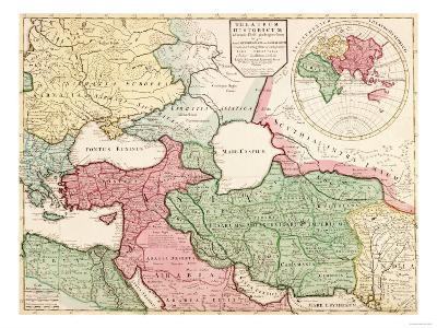 Middle East - Panoramic Map-Lantern Press-Art Print