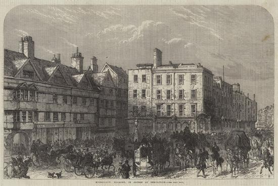 Middle-Row, Holborn, in Course of Demolition--Giclee Print