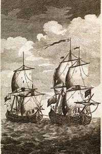 Anson's Spanish Galleon Capture, 1743 by Middle Temple Library