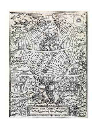 Atlas Cosmology, 16th Century Artwork