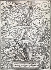 Atlas Cosmology, 16th Century Artwork by Middle Temple Library