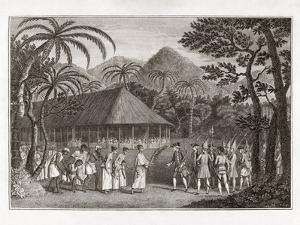 Captain Wallace And Tahitians, 1767 by Middle Temple Library