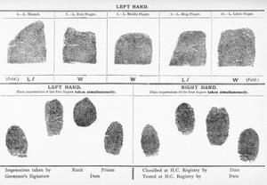 Fingerprints, Historical Image by Middle Temple Library