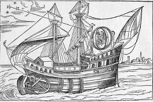 Ship with Gimballed Chair, 16th Cent. by Middle Temple Library