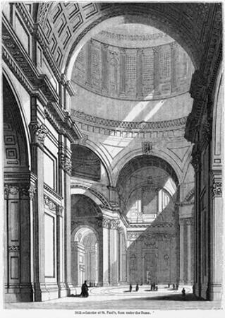 St. Paul's Cathedral, Historical Artwork by Middle Temple Library