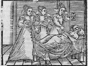 Witches Giving Potion To Woman, 17th Cent by Middle Temple Library