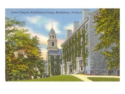 Middlebury College, Middlebury, Vermont--Art Print