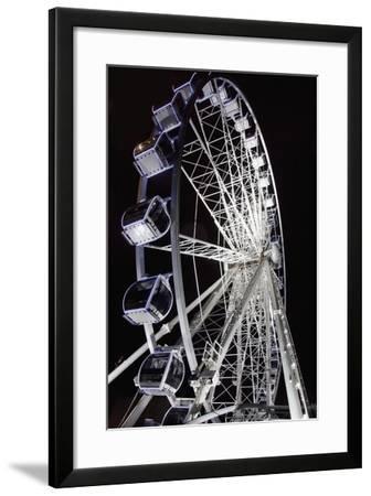 Middlesbrough, North Yorkshire, England; a Ferris Wheel Illuminated at Night-Design Pics Inc-Framed Photographic Print