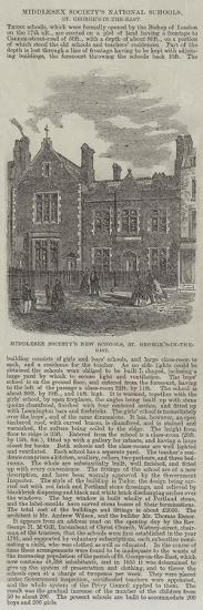 Middlesex Society's National Schools, St George's-In-The-East--Giclee Print