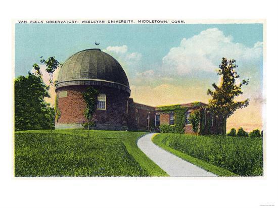 Middletown, Connecticut - Exterior View of Van Vleck Observatory, Wesleyan U-Lantern Press-Art Print