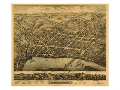 Middletown, Connecticut - Panoramic Map-Lantern Press-Art Print