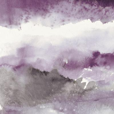 Midnight at the Lake III Amethyst and Grey-Mike Schick-Art Print