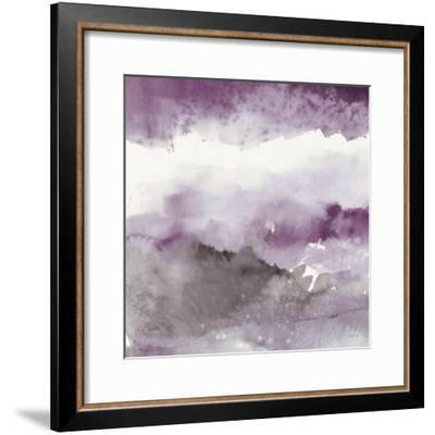 Midnight at the Lake III Amethyst and Grey-Mike Schick-Framed Art Print