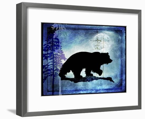Midnight Bear-LightBoxJournal-Framed Giclee Print