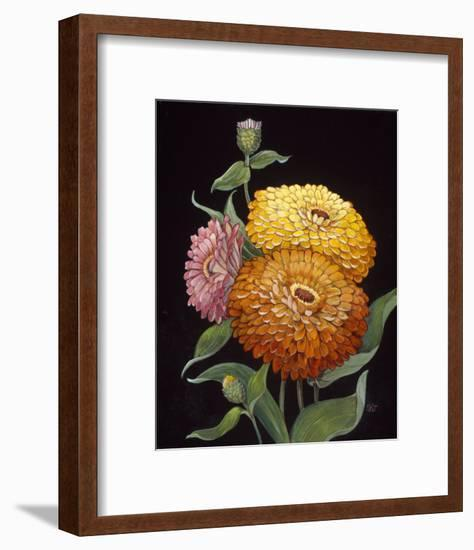 Midnight Bloom II-Susan Jeschke-Framed Premium Giclee Print