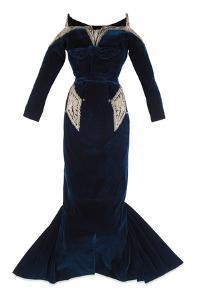 Midnight Blue Dinner Dress, Christian Dior, Lahore, 1948