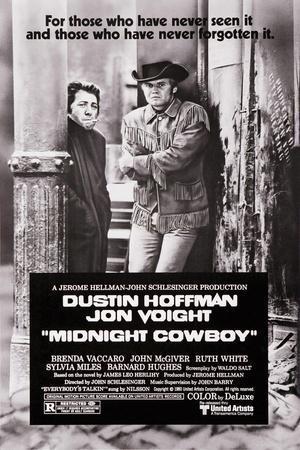 Midnight cow boy Hoffman vintage movie poster print
